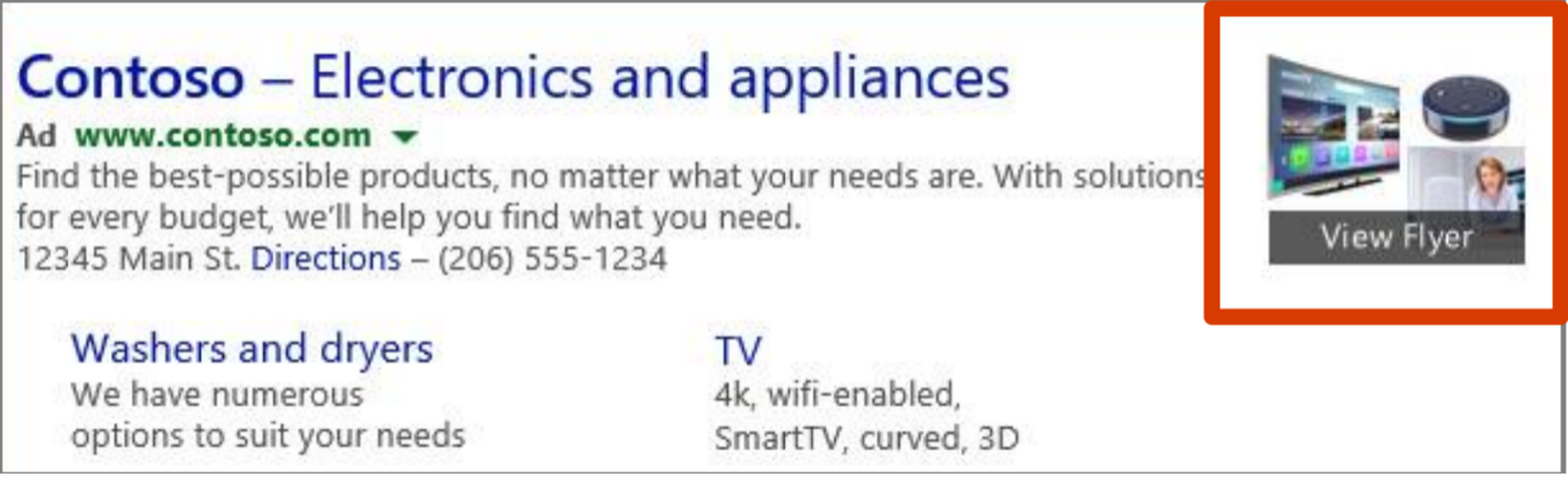 microsoft ads Flyer Extensions
