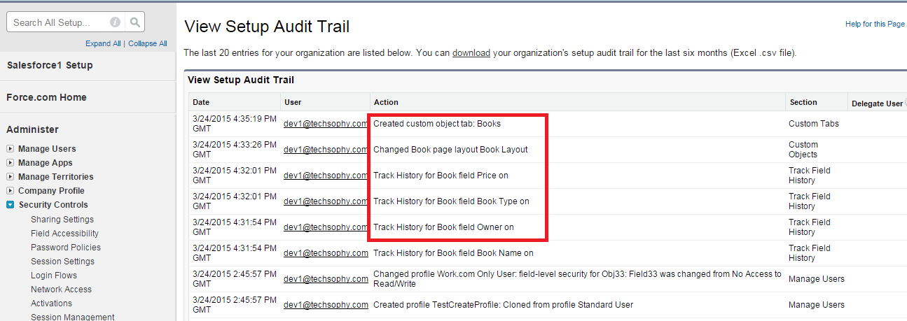 Difference between Setup Audit trail and field history tracking. -  Salesforce Developer Community