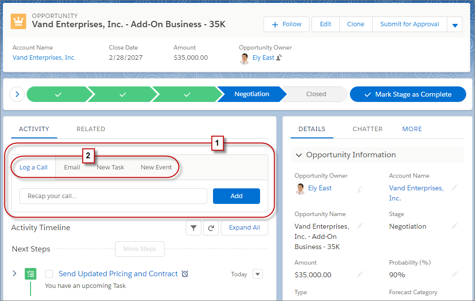 Pro Tip: Boost Productivity with Activity Actions in Lightning Experience -  Salesforce Admins