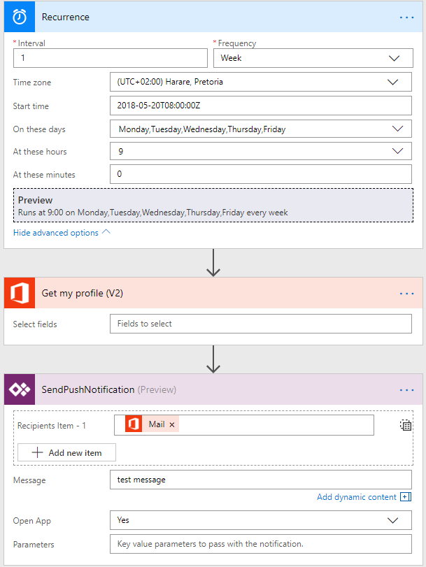 Solved: Re: PowerApps Push Notification at Certain time to... - Power  Platform Community