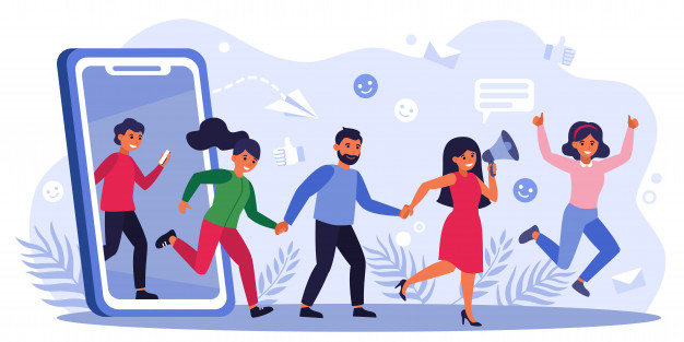 Customers earning money by giving likes Free Vector
