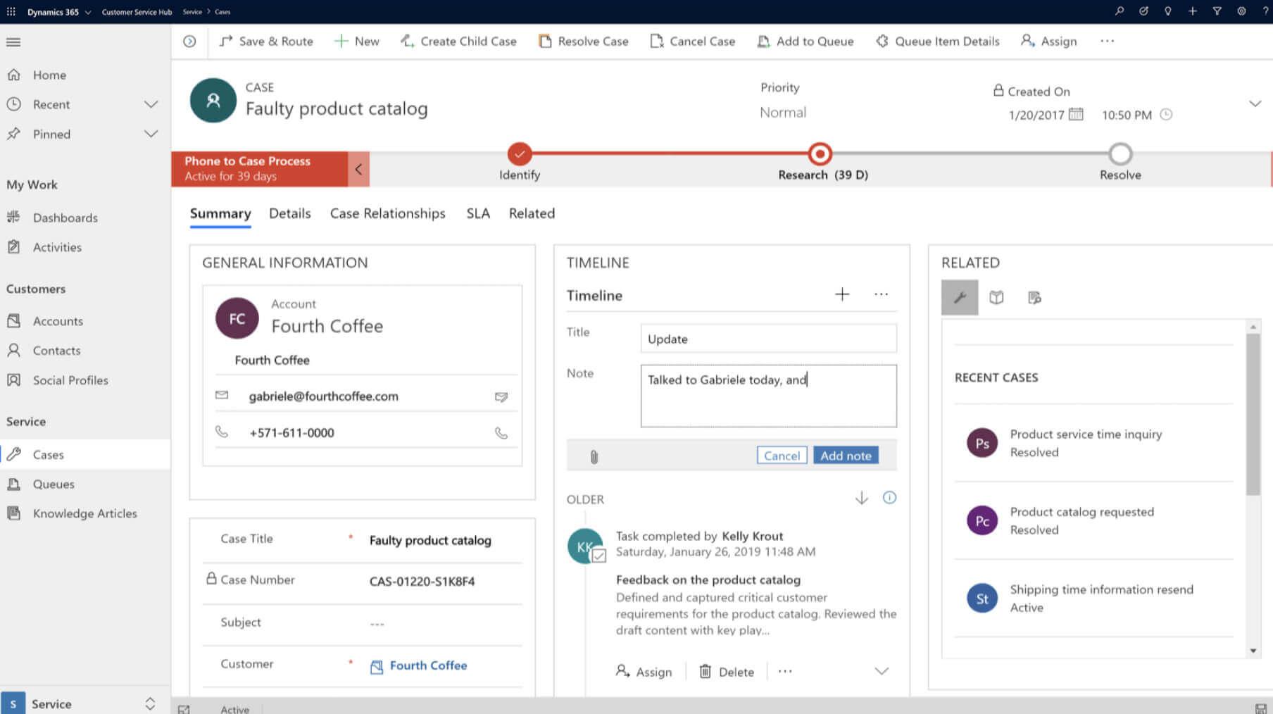 Customer Service Professional | Microsoft Dynamics 365