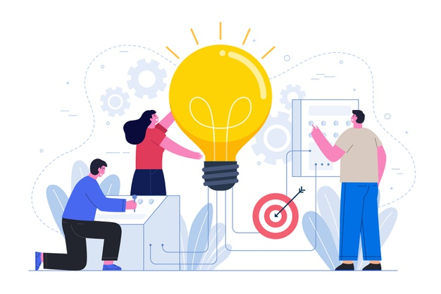 Business idea concept with people Free Vector