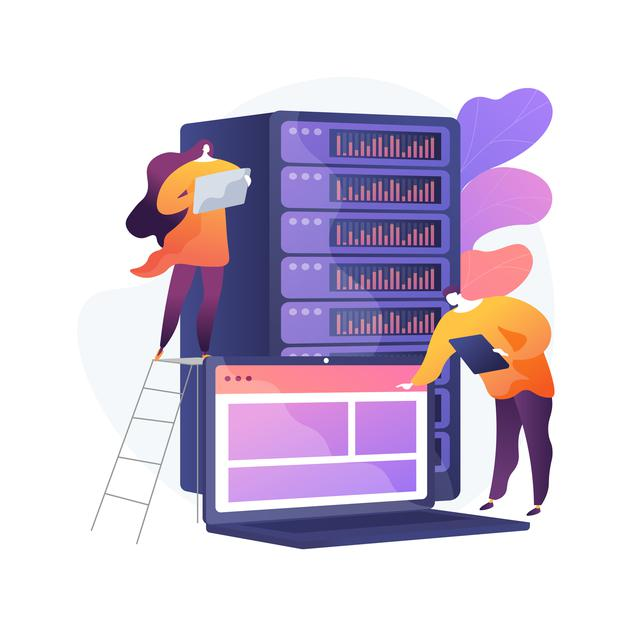 Data center abstract concept illustration Free Vector