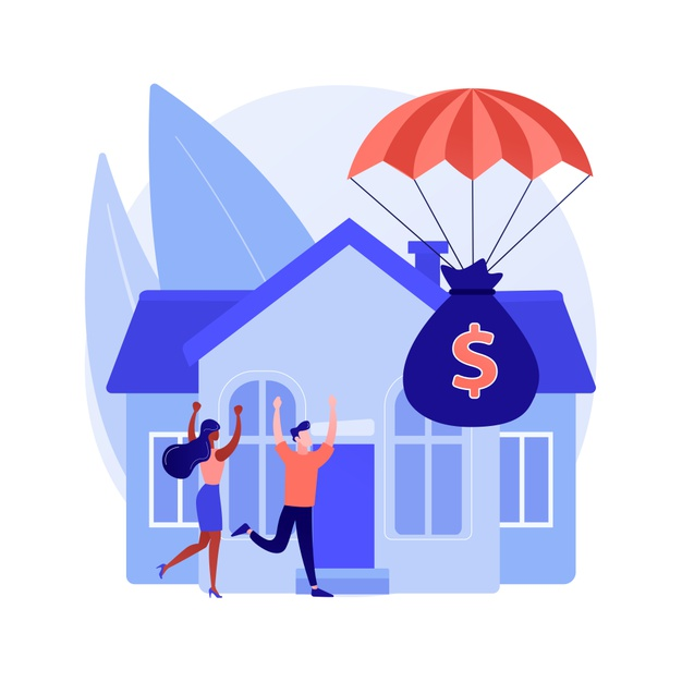 Mortgage relief program abstract concept Free Vector