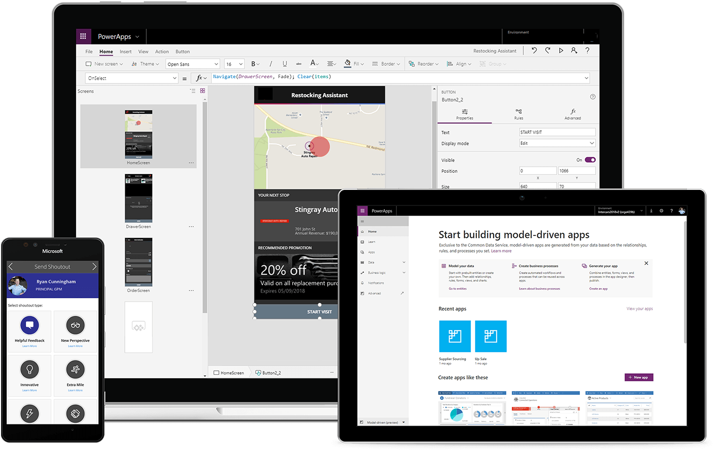 Build Apps – Canvas Apps or Model-driven Apps | Microsoft Power Apps
