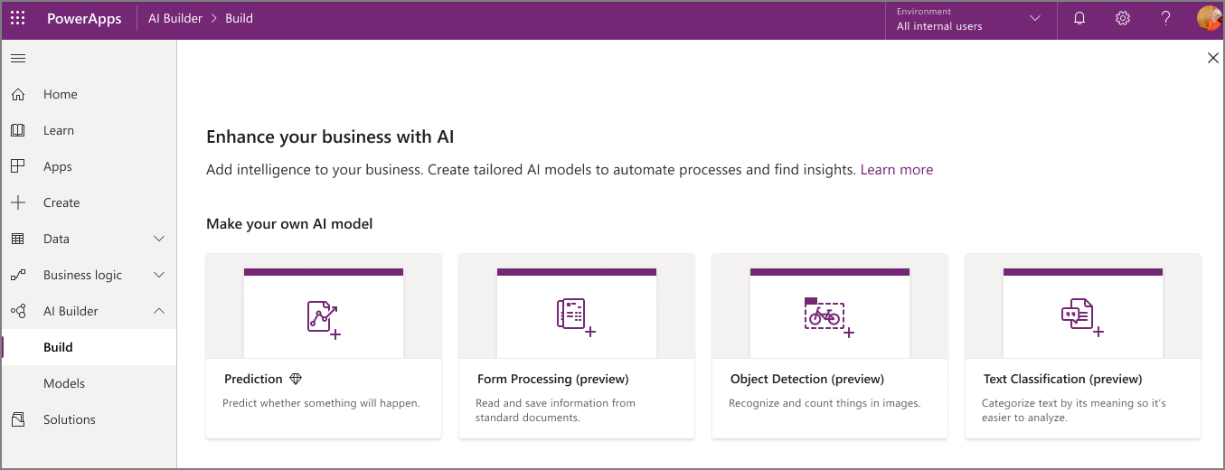 AI Builder in Power Apps