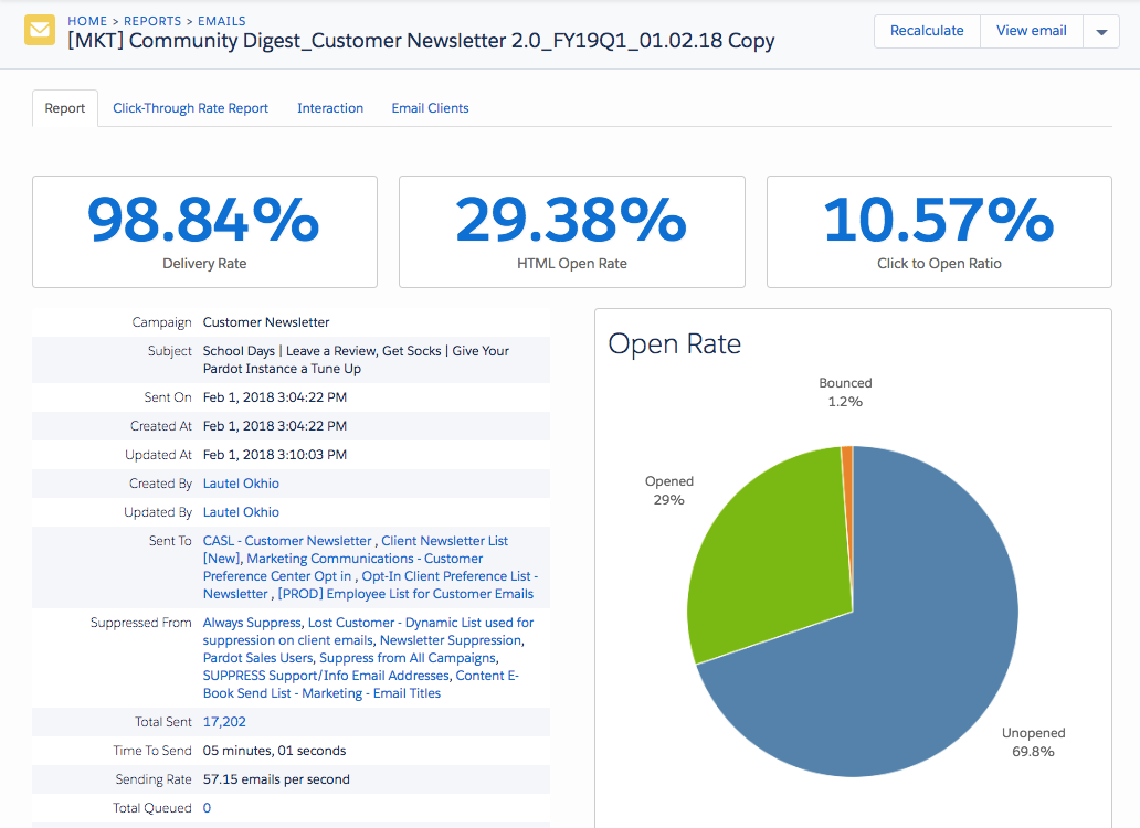 Track and Report on Email Engagement Unit   Salesforce Trailhead