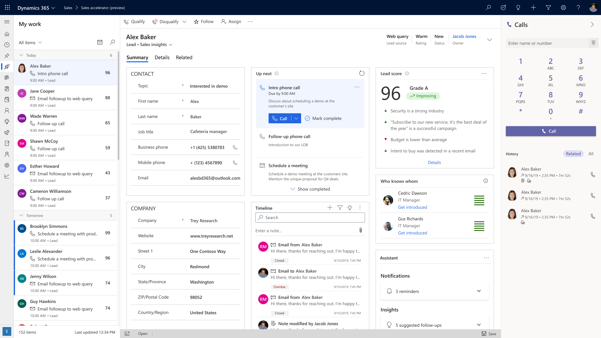 Sales Overview | Microsoft Dynamics 365