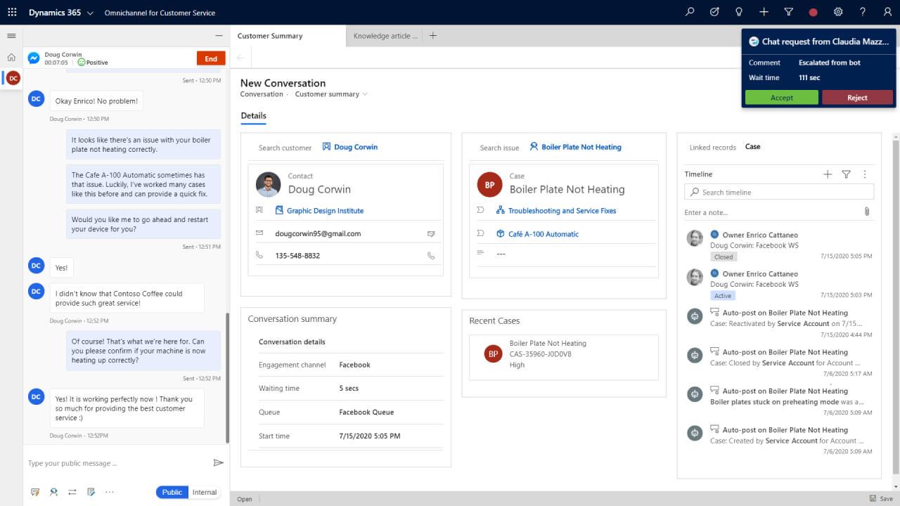 Customer Service Capabilities   Microsoft Dynamics 365