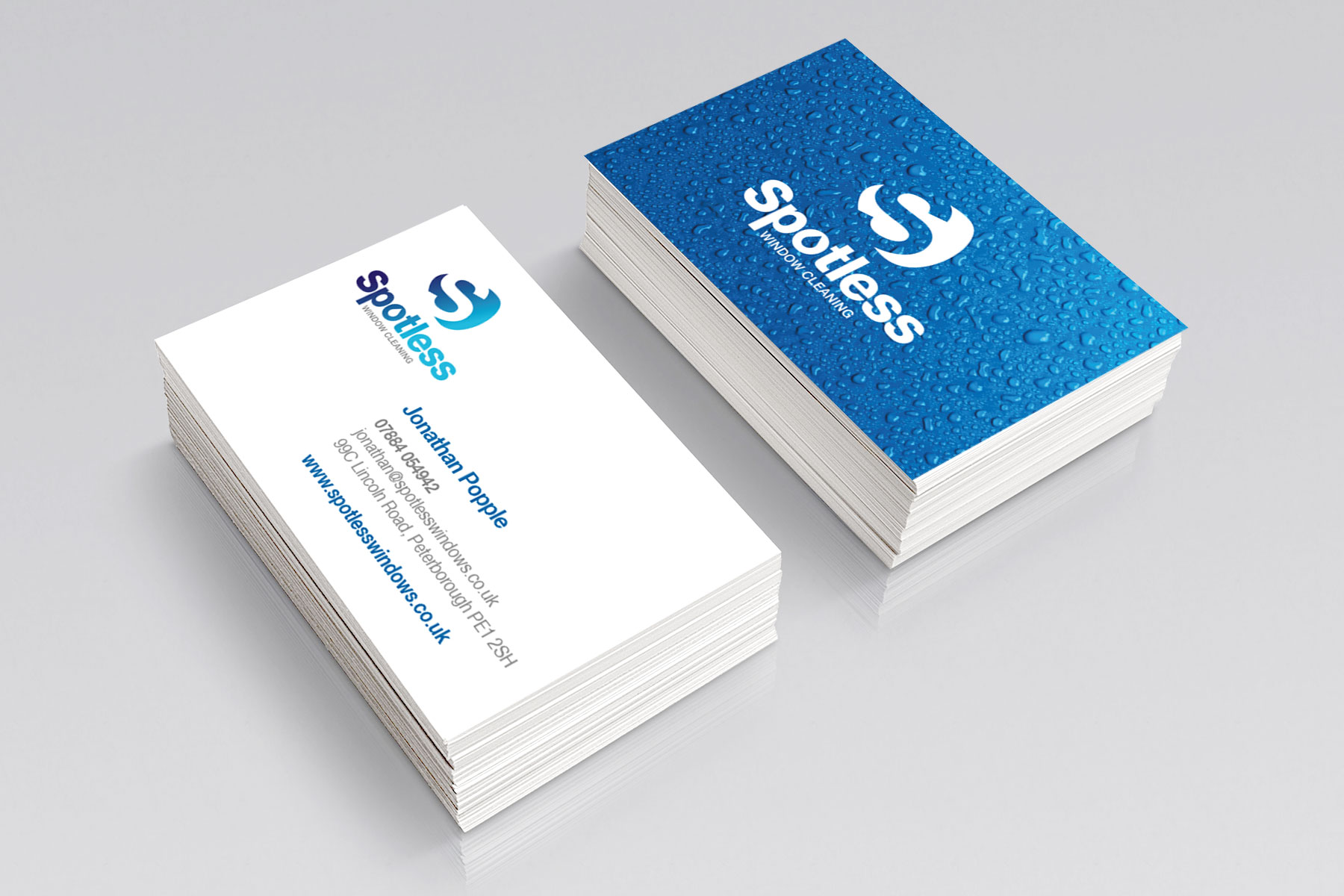 Business cards for Spotless branding