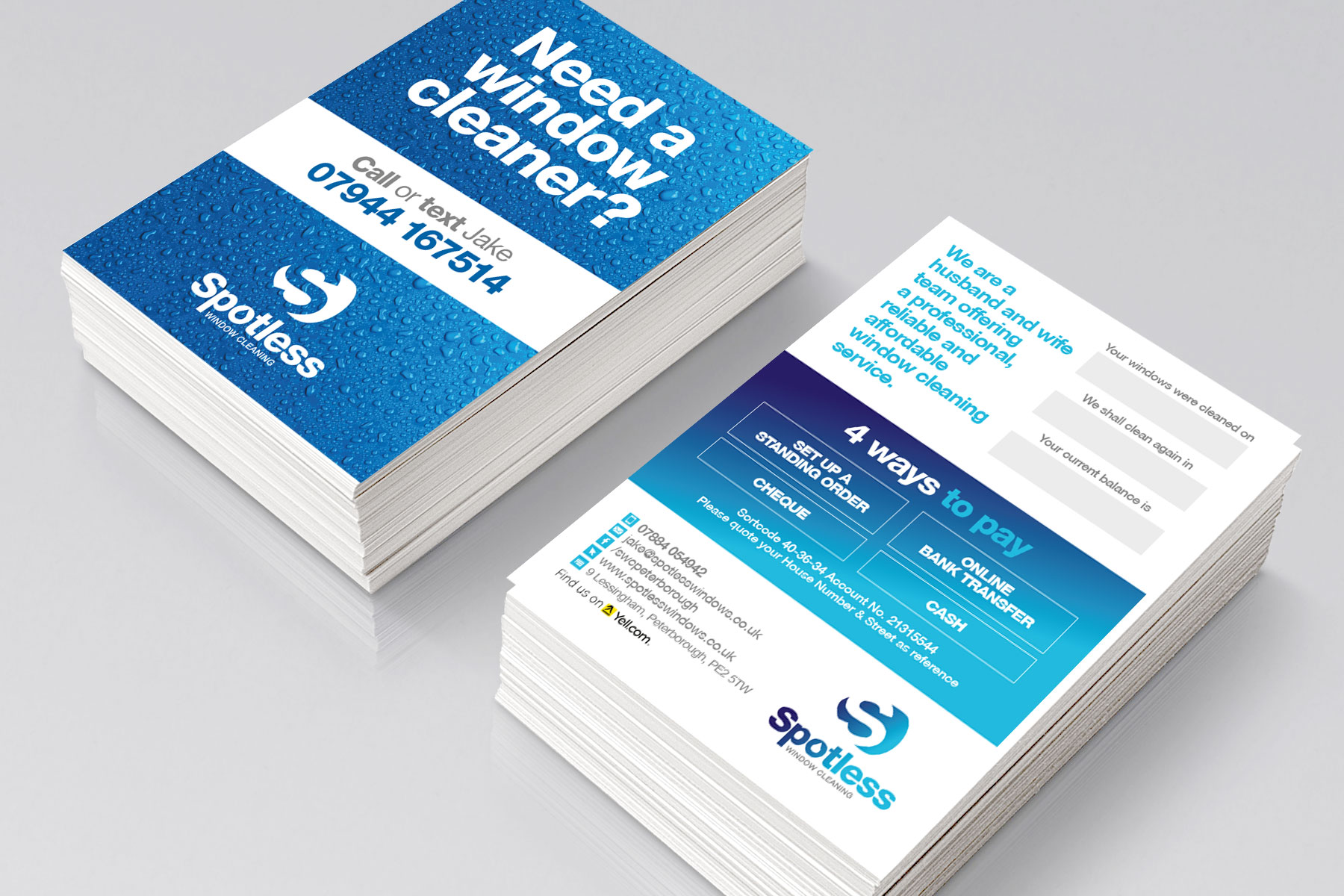 Leaflet design for Spotless branding
