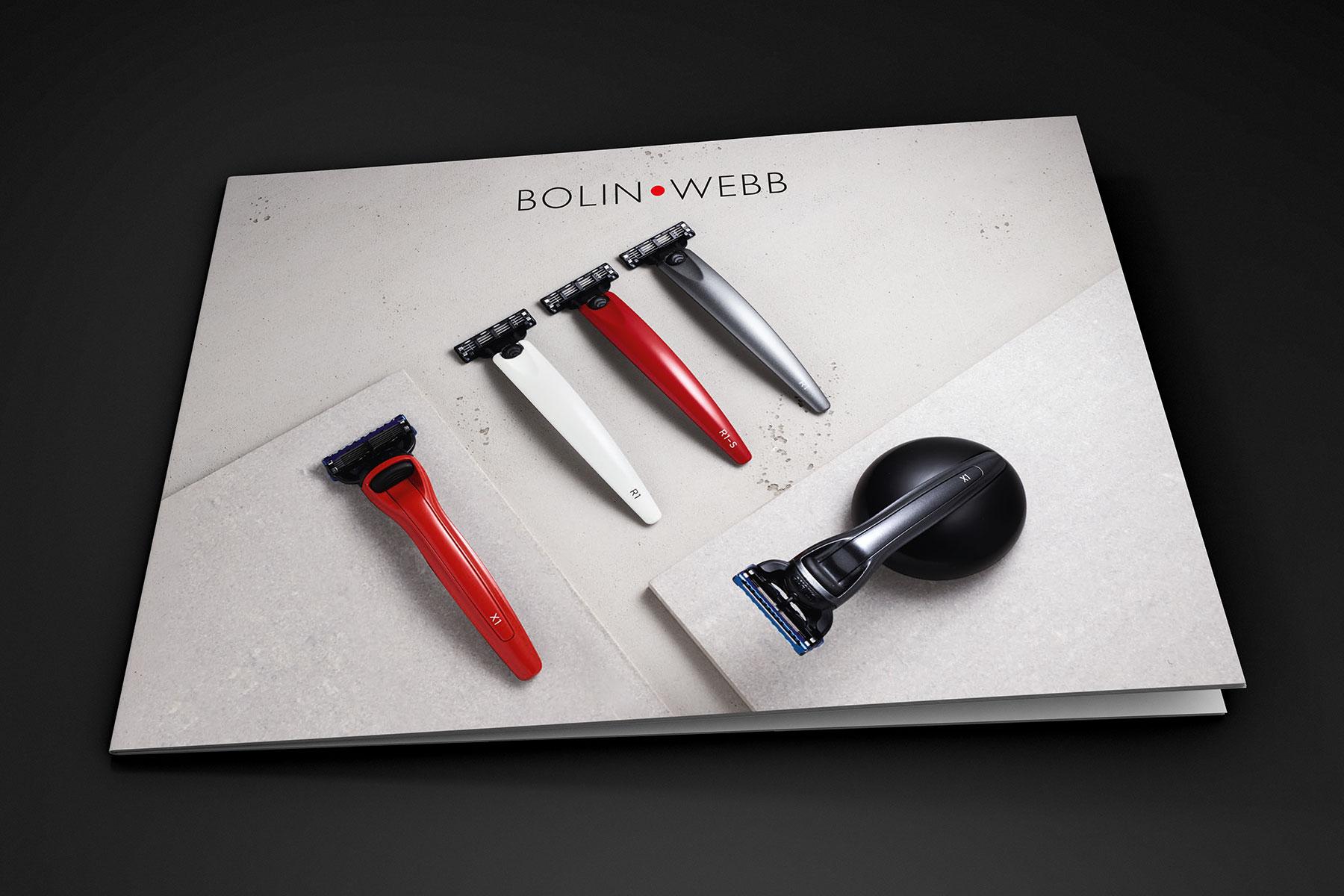 Brochure design cover for Bolin Webb branding