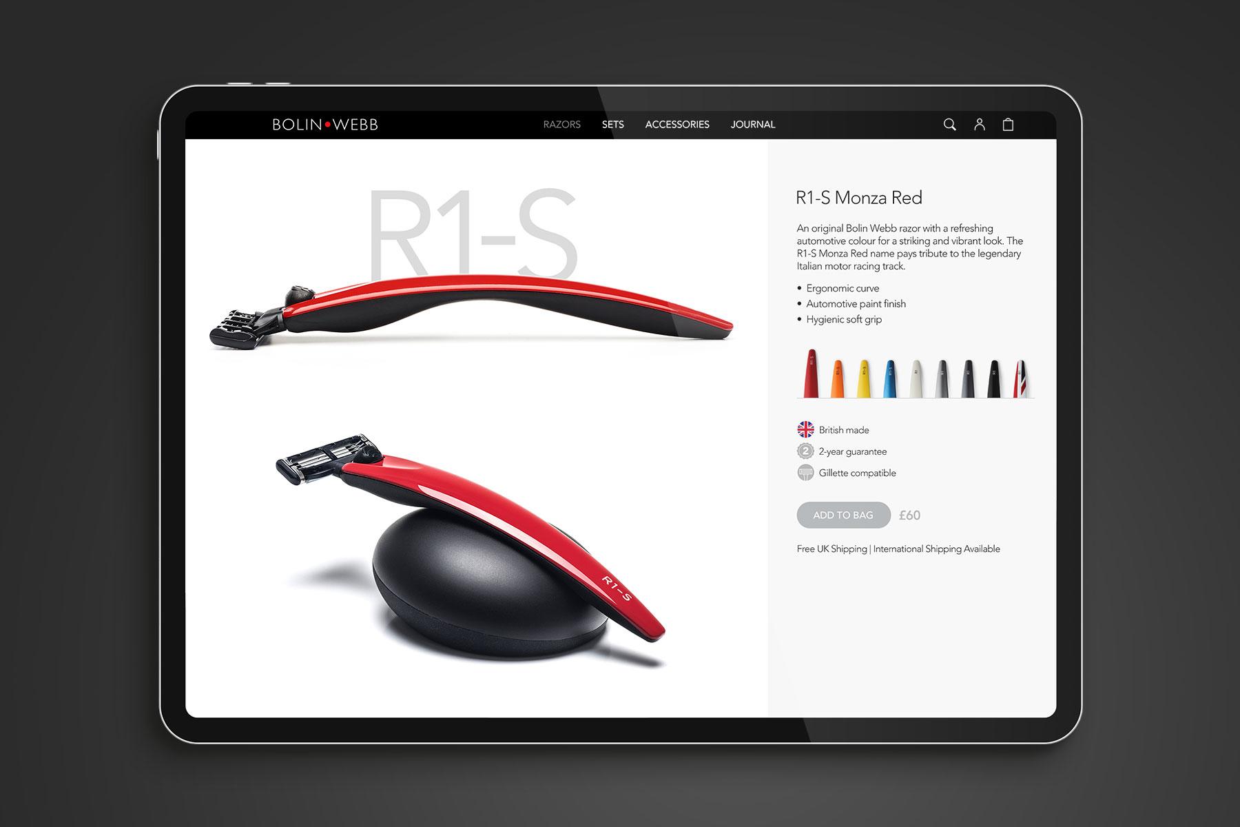 Website design for Bolin Webb branding