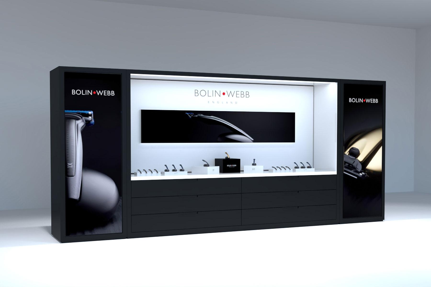 Point of Sale design for Bolin Webb branding