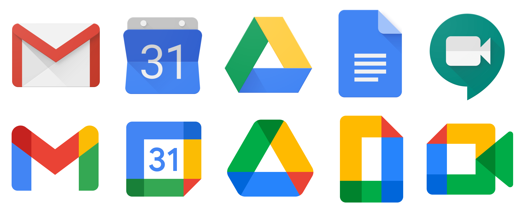 A fun assignment would be to fix up Google's icon designs - Credits: TechCrunch