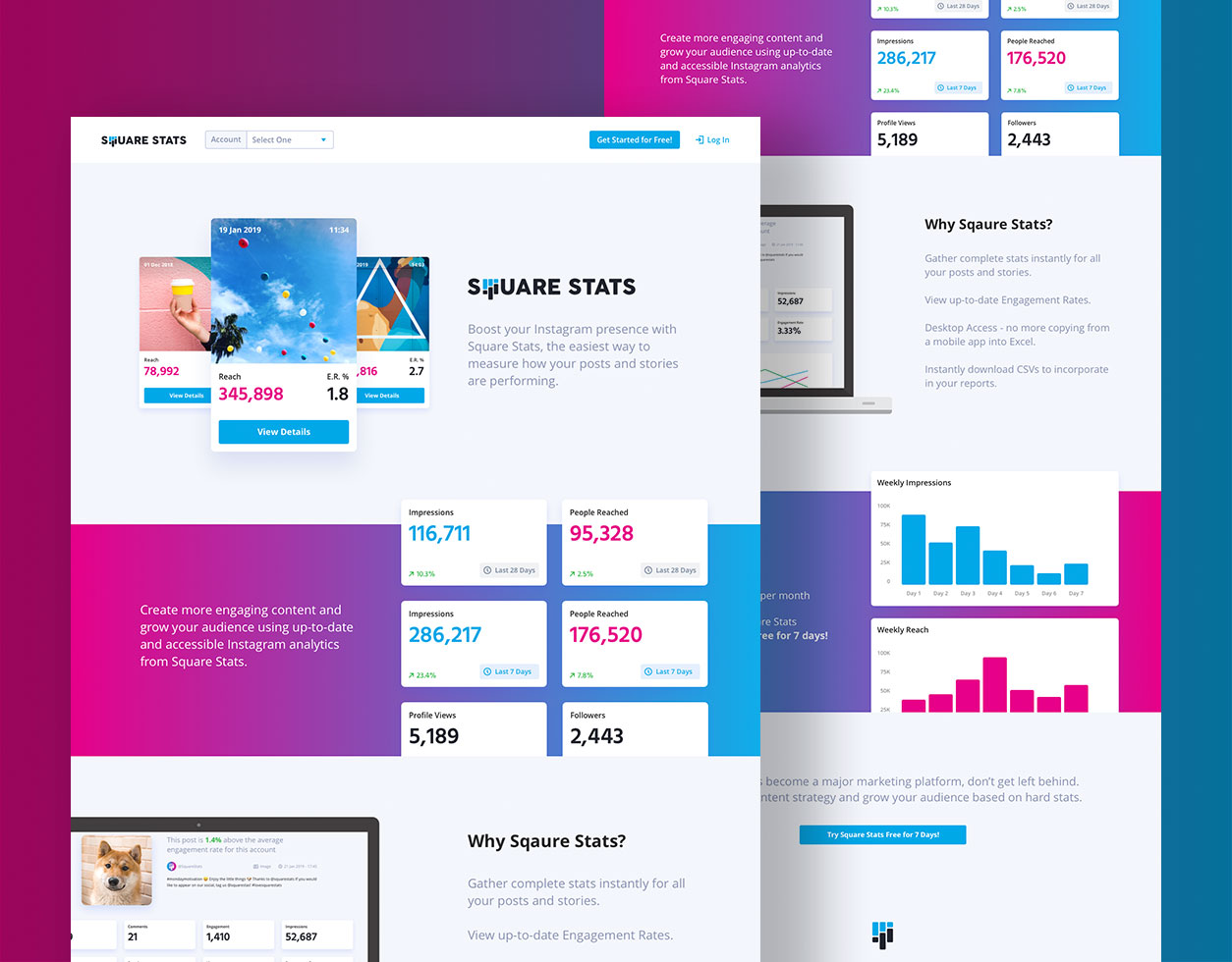 Square Stats product design
