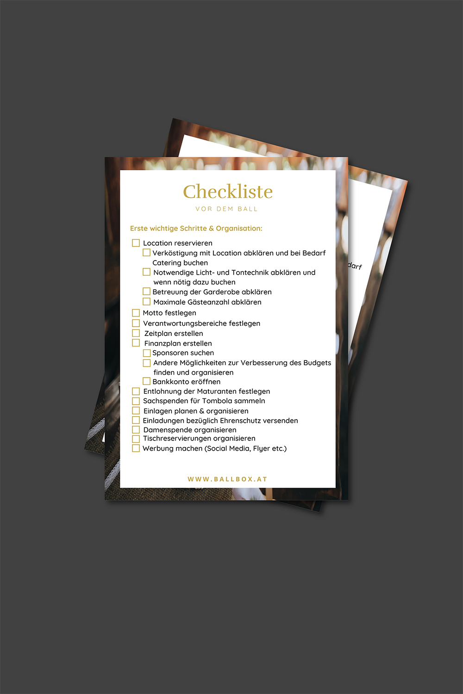 Checklisten für deinen Maturaball
