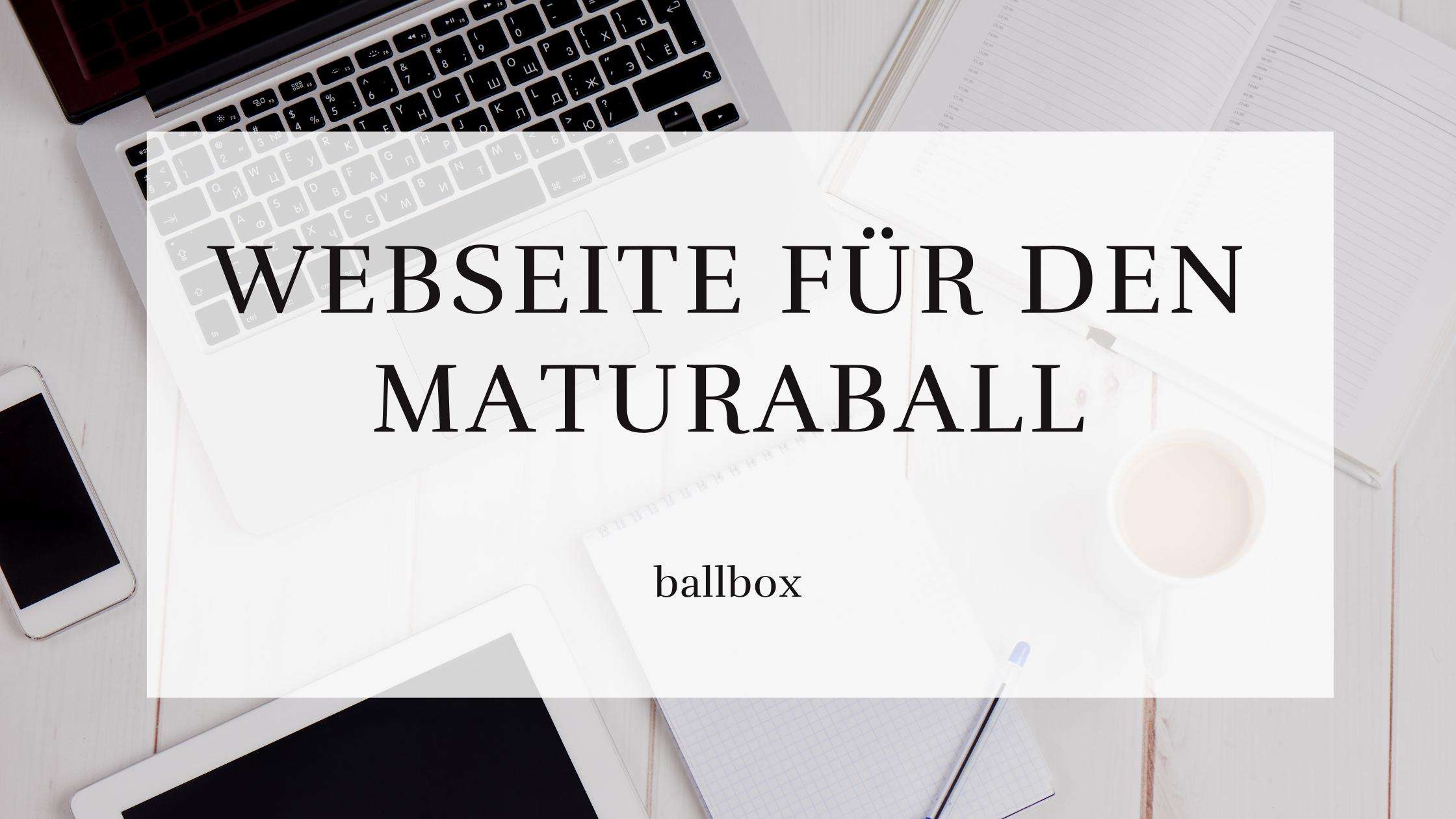 Maturaball Website
