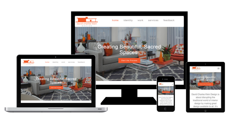 web design on desktops, ipad, and mobile devices