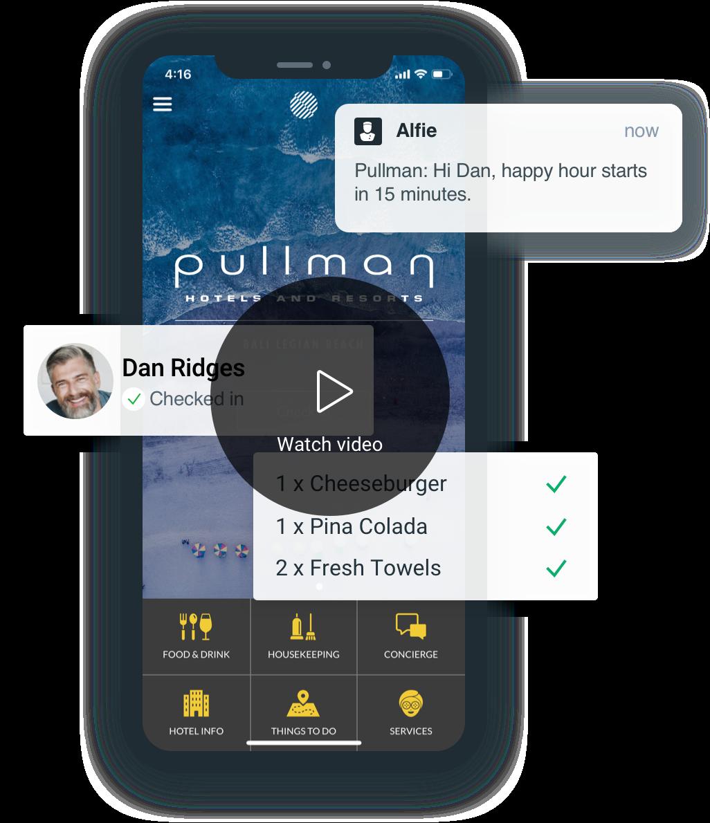 Screenshot of guest app