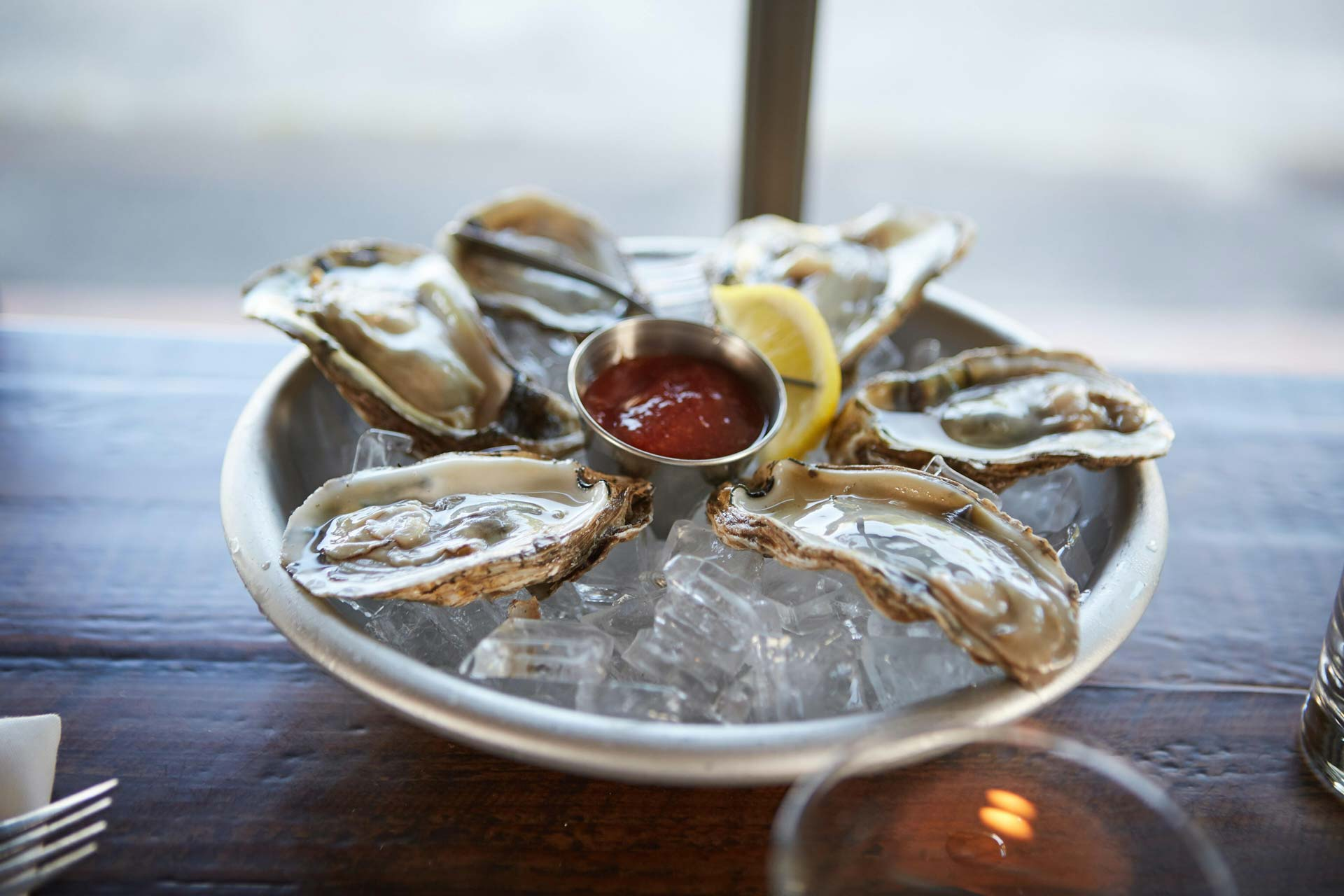 Delicious Fresh Oysters On a Platter