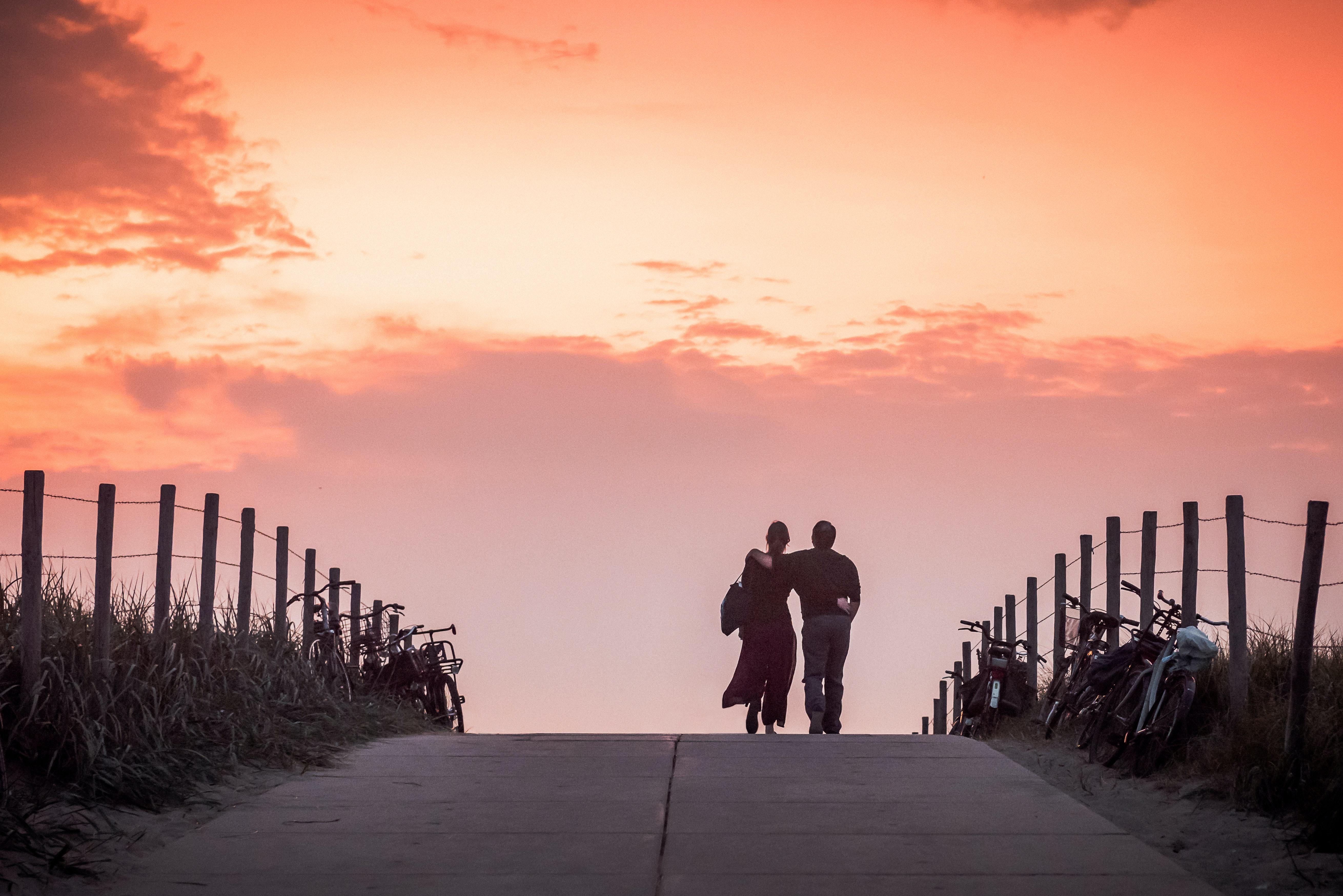 A Couple Walking on Tilghman Island Waterfront