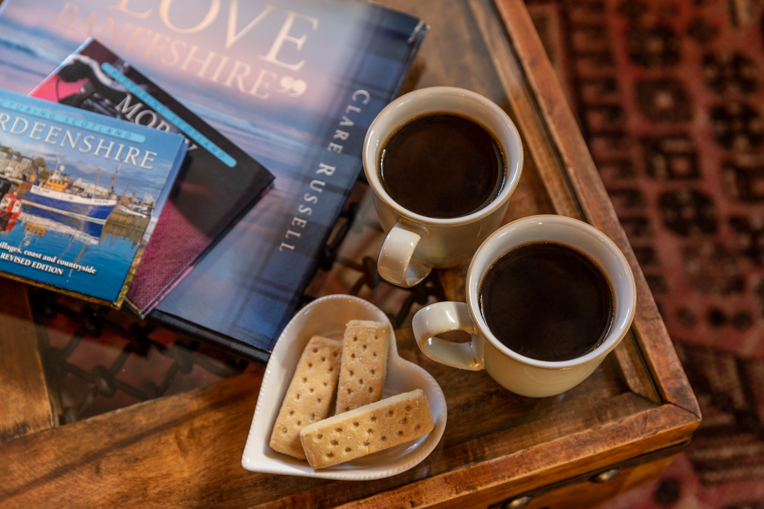 Enjoy steaming coffee and traditional shortbread in the comfort of the Guardhouse.