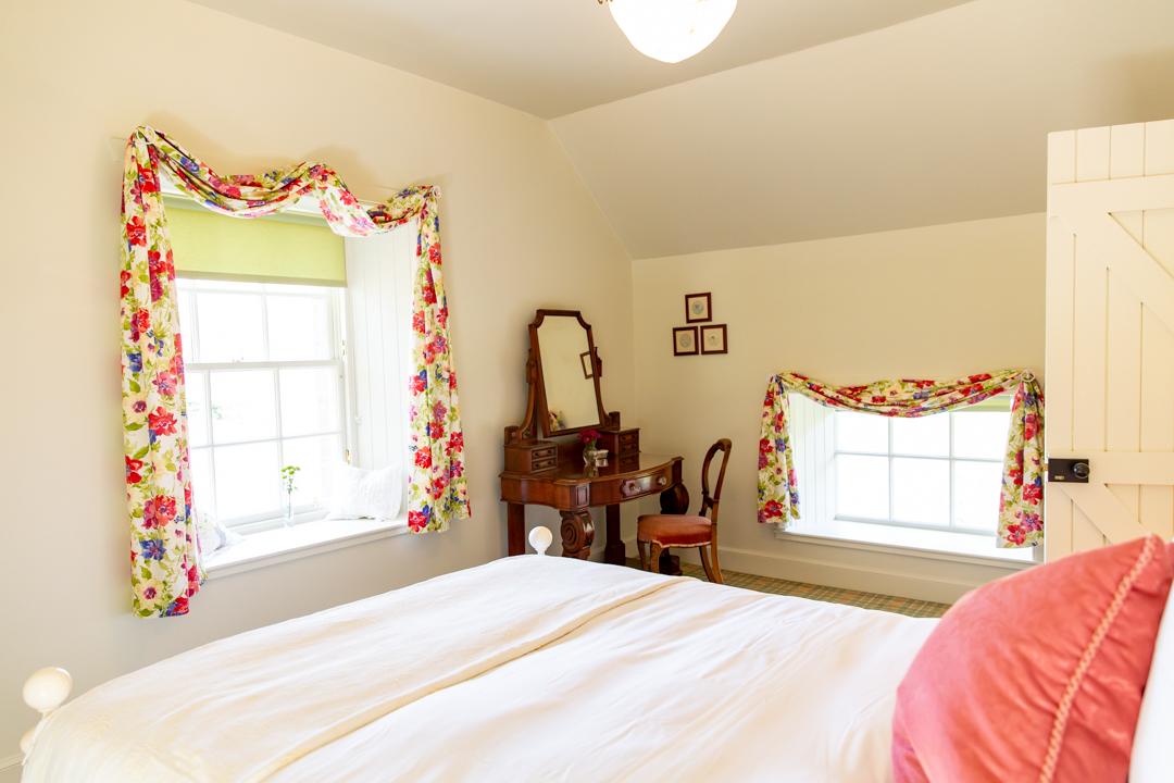 Bright twin room.
