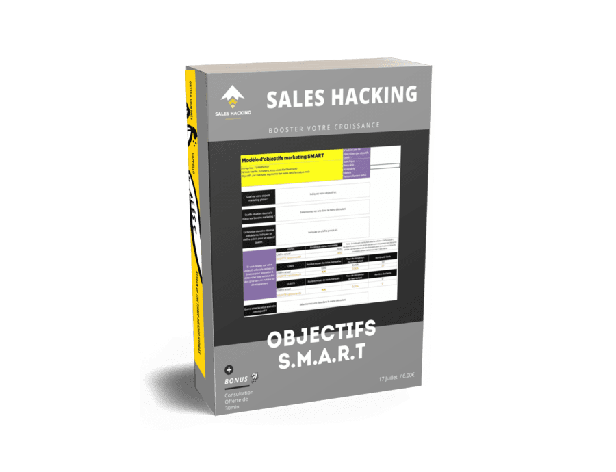 template de growth hacking pour definir des objectifs S.M.A.R.T