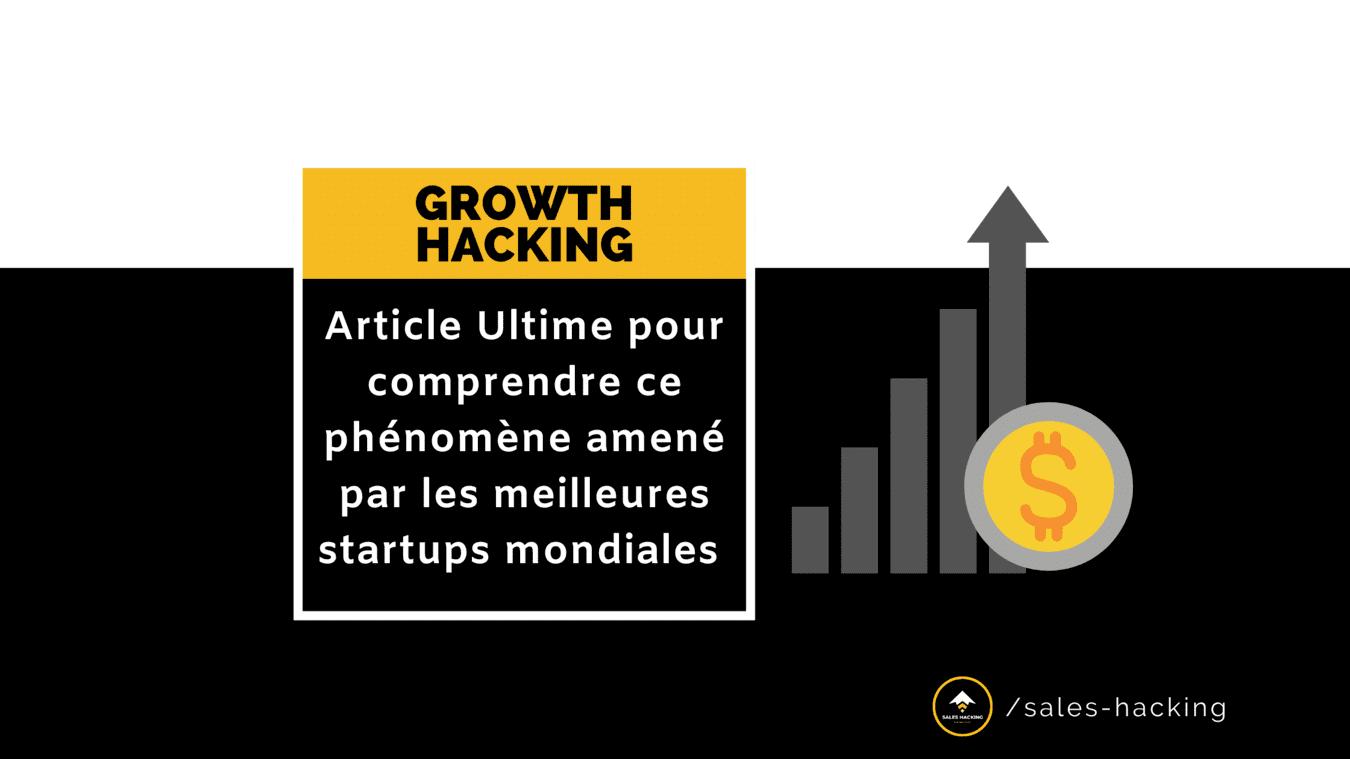 Growth Hacking est un nouveau domaine. Un Growth Hacker créé des expériences pour limiter les dépenses et booster la croissance de toutes les entreprises