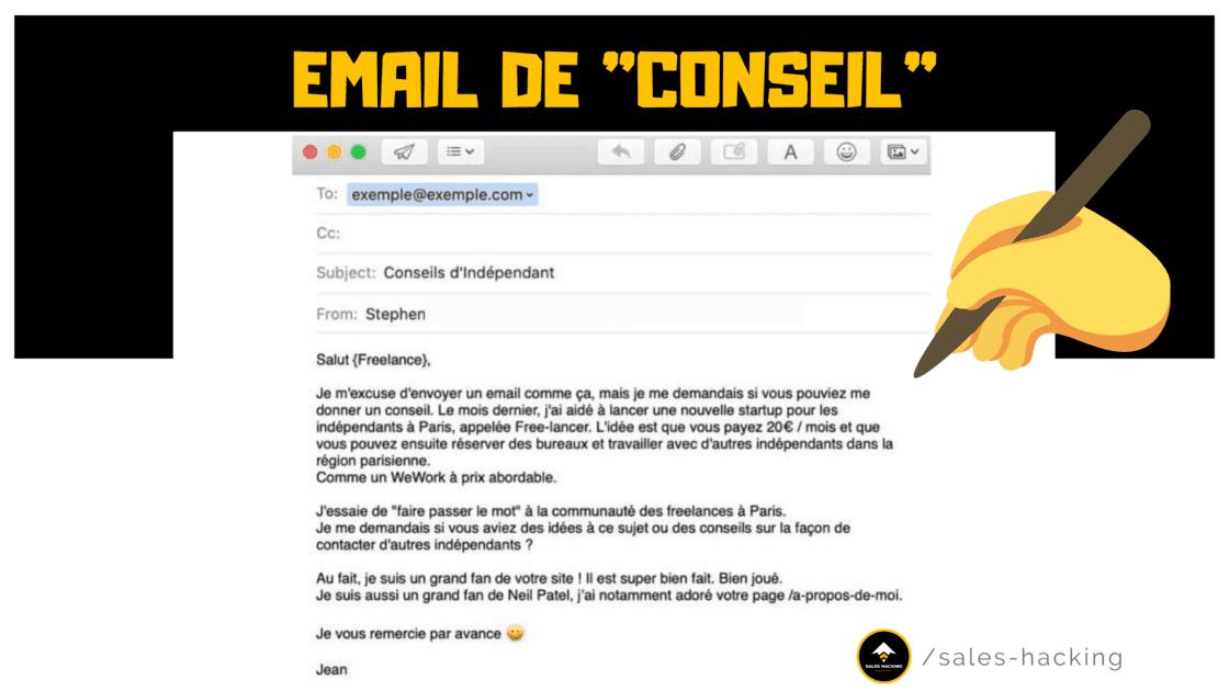 Exemple email de Conseil