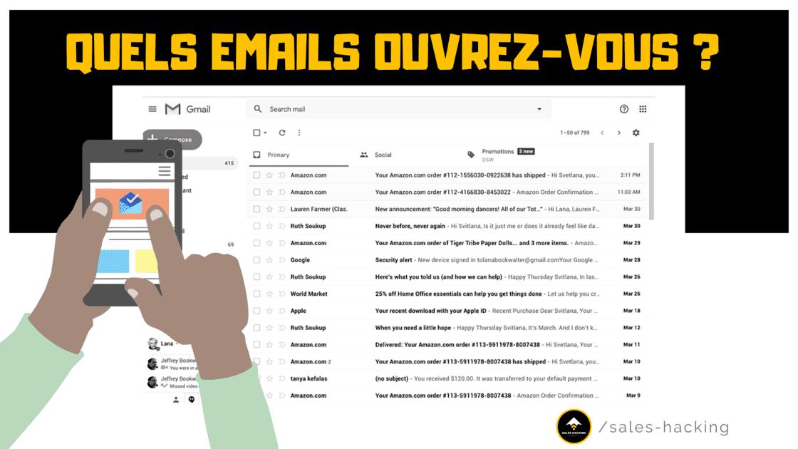 Boîte de réception Gmail