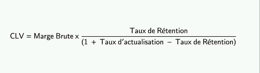 Calcul de la CLV 1