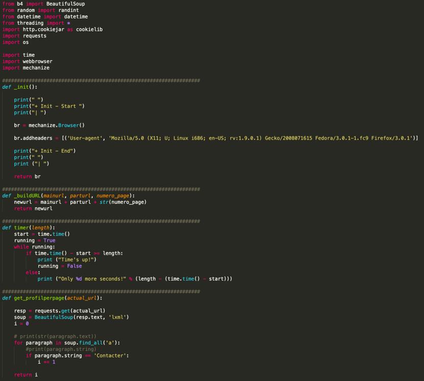 code Python pour collecter des données