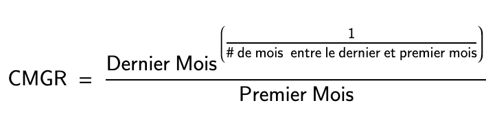 Calcul du CMGR