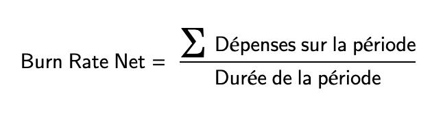 Calcul du Burn Rate Net