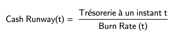 Cash Runway formule