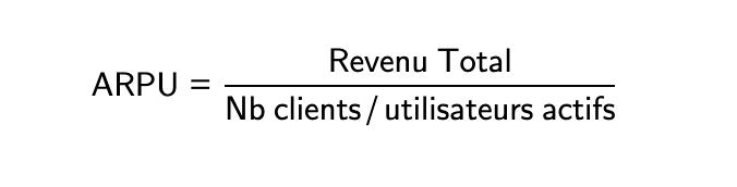 Calcul de l'ARPU