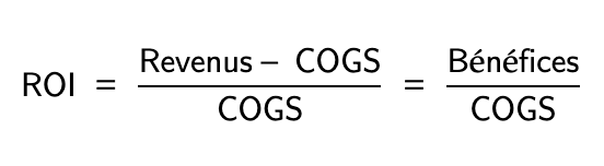 Calcul du ROI