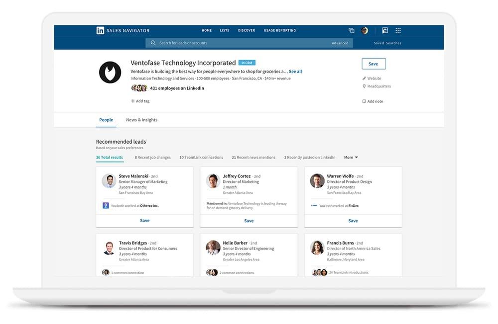 Automatisation Linkedin : Sales Navigator