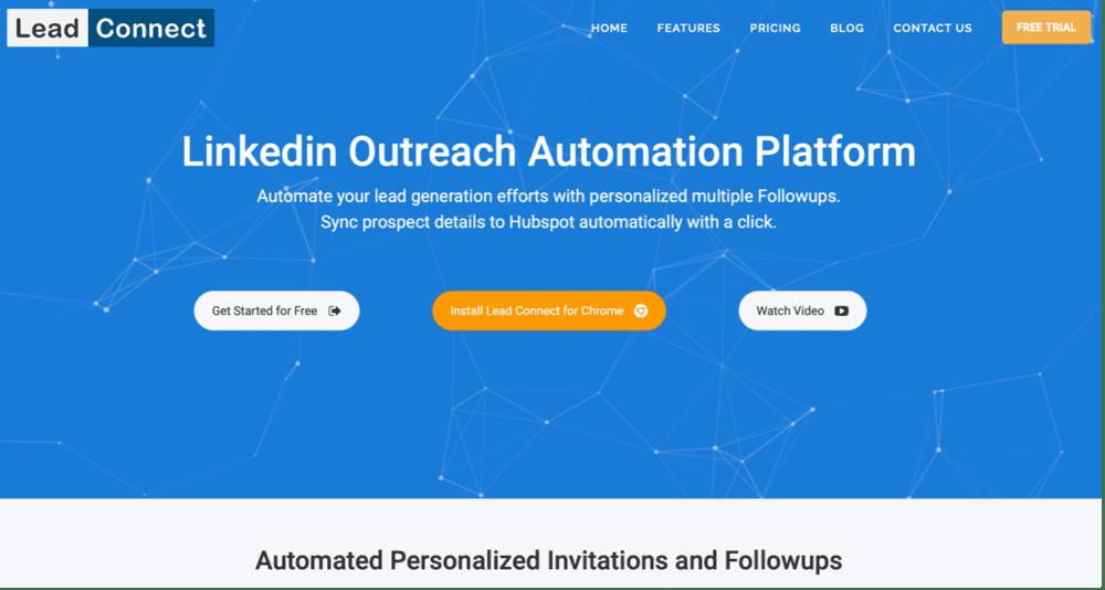 Automatisation LinkedIn : Lead Connect