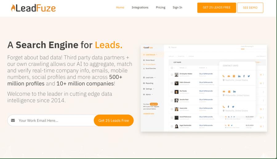 Automatisation LinkedIn : LeadFuze
