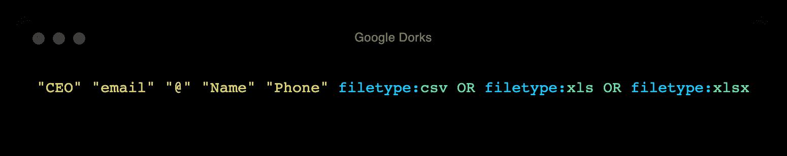 Google Dorks 1