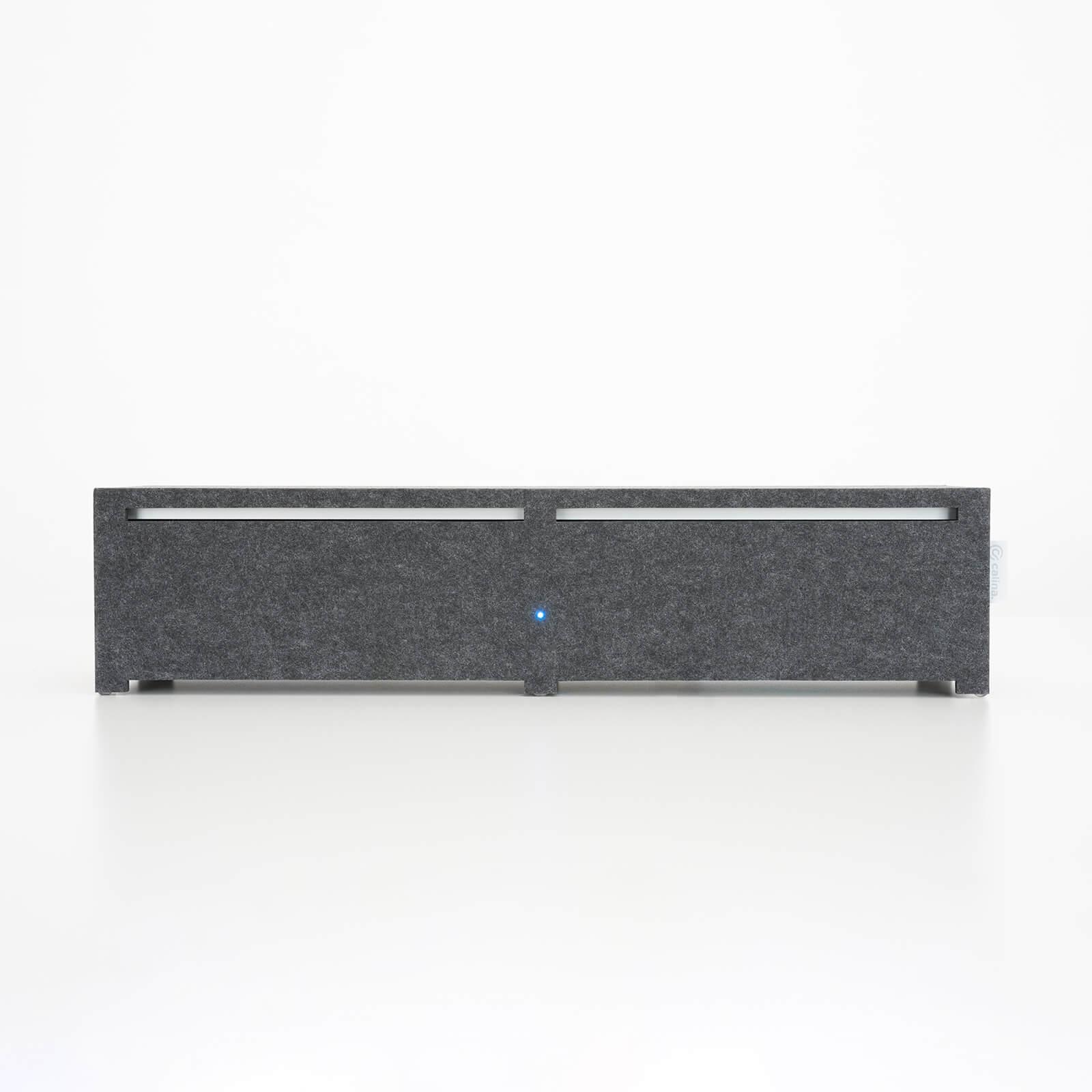 calina.DESK schützt Sie durch den integrierten Präsenzsensor unmittelbar, wenn Sie an Ihren Schreibtisch kommen.