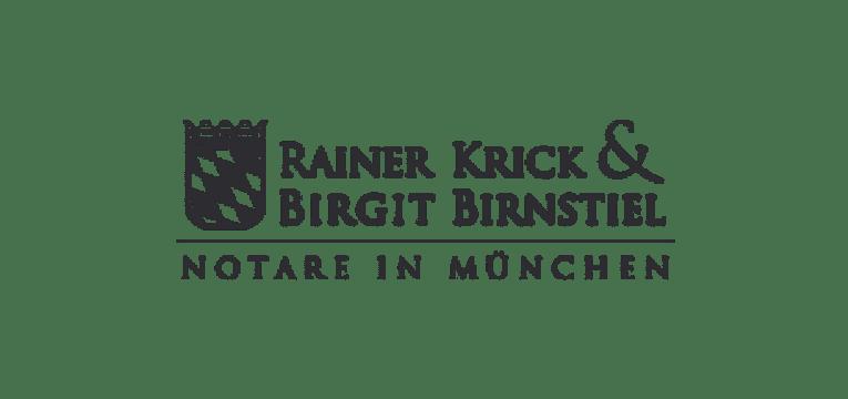 Logo von Rainer Krick & Birgit Birnstiel , Notare in München