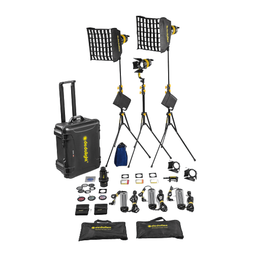 Rent the DEDOLIGHT focusing led lights Kit, with 3 DLED7-BI lights in Berlin, Germany via Beazy, the rental platform for photography and filmmaking gear.