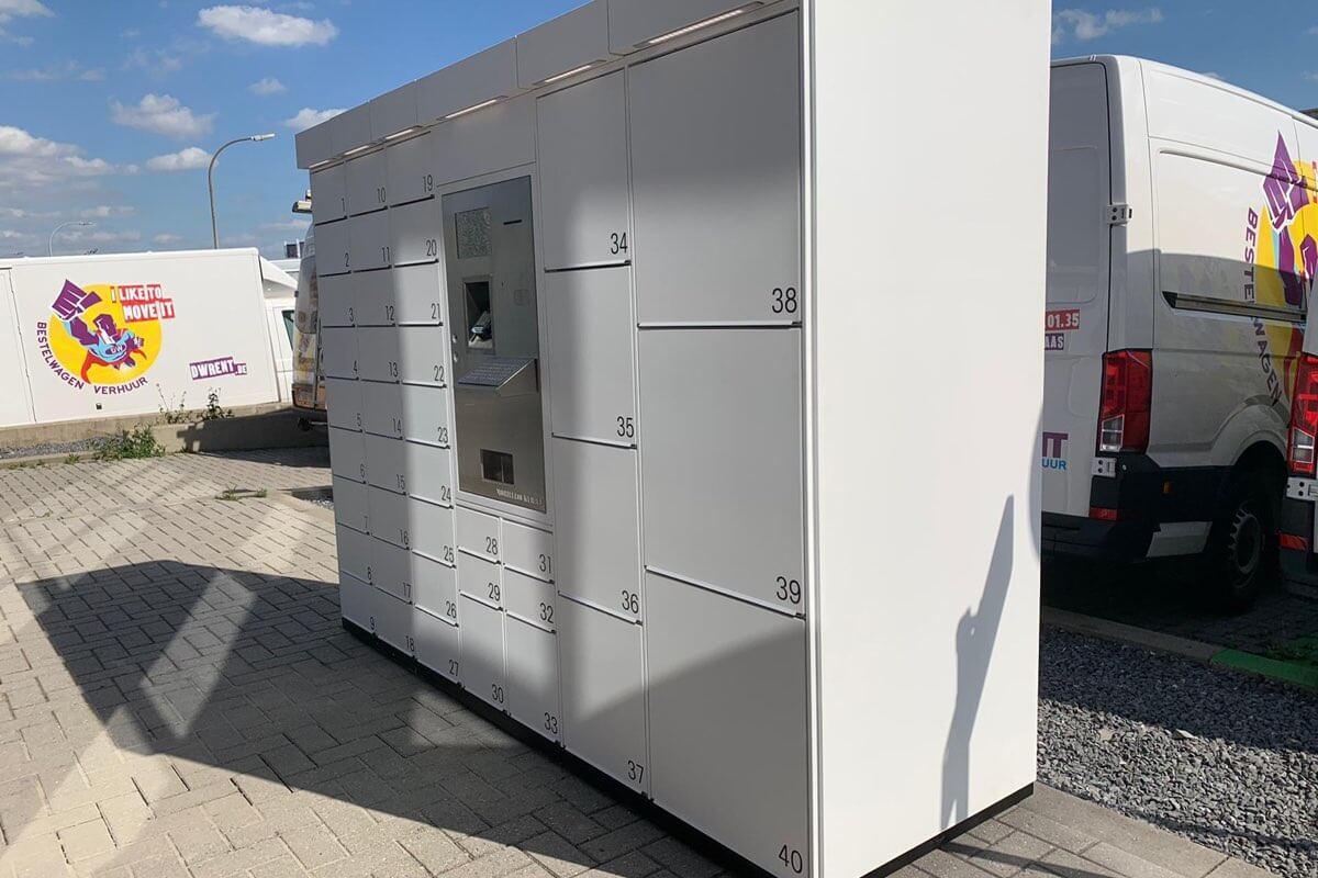 Installation of outdoor locker