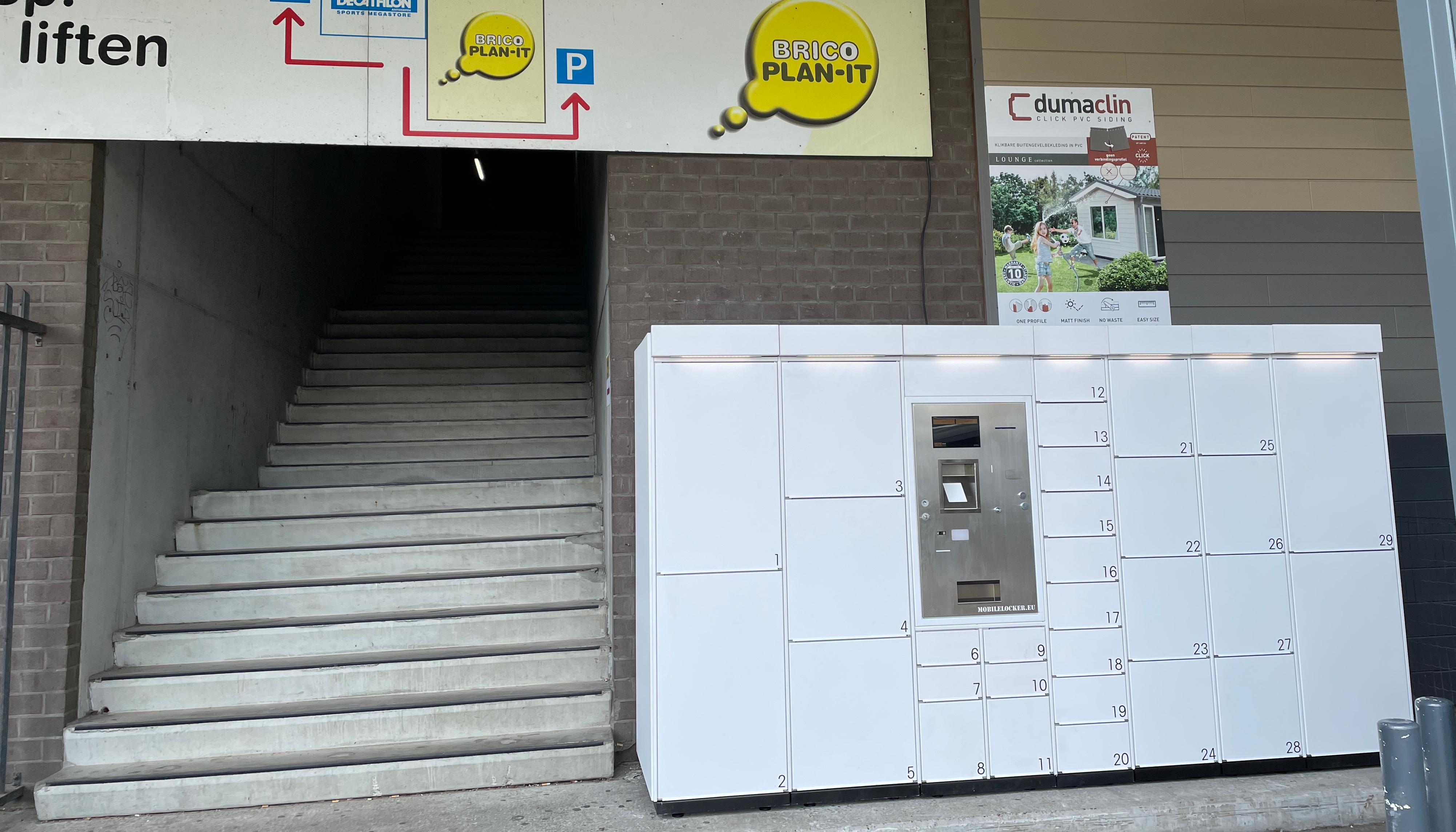 City of Antwerp, Brico & Collibree lockers