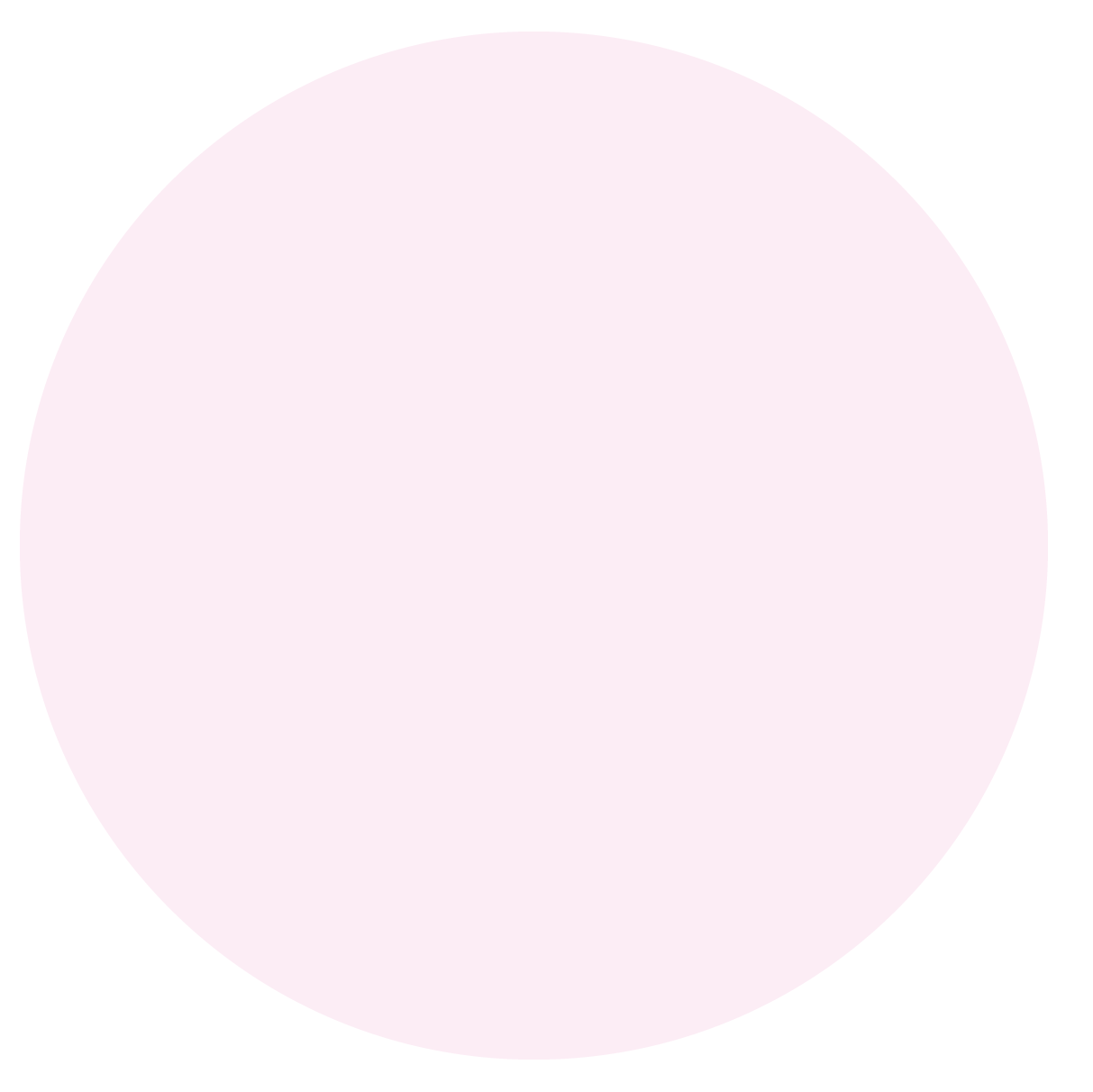 Large pink circle for background